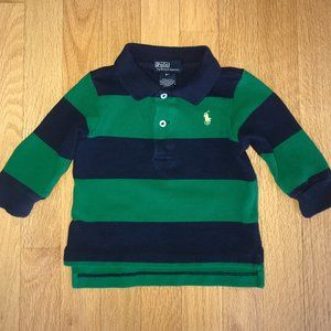 Polo Ralph Lauren Long Sleeve Polo Shirt Size 9 mo